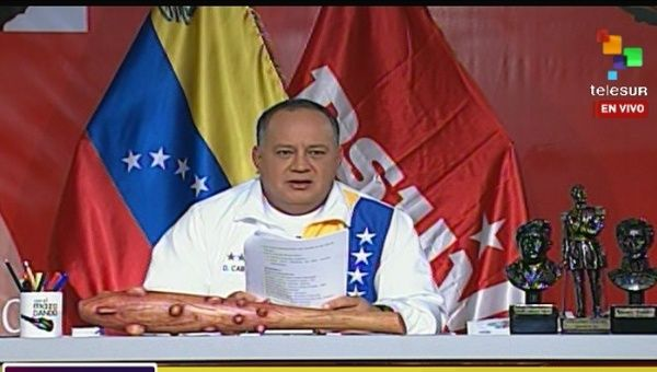 Head of the National Assembly, Diosdado Cabello.
