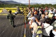 Venezuela's President Nicolas Maduro late Wednesday ordered two border crossings to Colombia closed for 72 hours after a shoot-out left three soldiers injured.