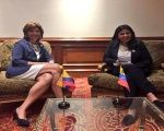Venezuelan and Colombian Foreign Ministers meet to discuss the border issue.