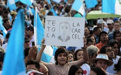 Around 4,000 protesters gathered in Guatemala City to demand the resignation of President Otto Perez Molina