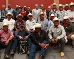 Some of the male members of the Yaqui community in the struggle over water rights.