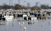 The Metairie cemetery flooded after Hurricane Katrina hit New Orleans.