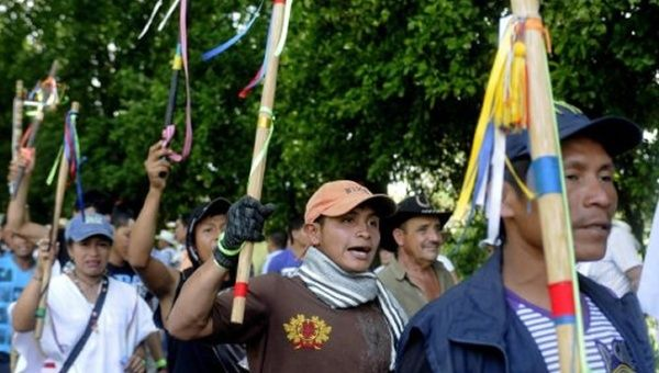 On August 30, Colombian campesinos started a massive mobilization against the government that will last until Saturday.
