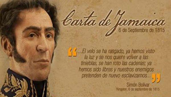 La Carta de Jamaica expone la visión del Libertador sobre la situación política de América, que para la época se encontraba en plena lucha contra el imperio español.