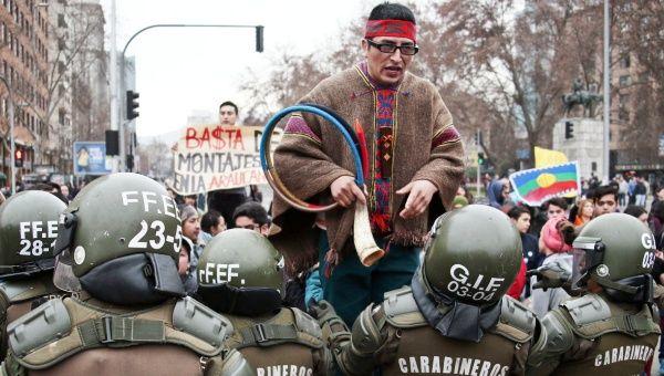 Şili Güvenlik Güçleri Mapuçe Halkına Saldırdı