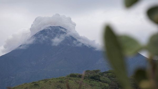 Colima Volcano has billowed smoke and shot ash 2000 meters into the air.