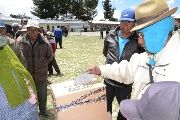 Bolivians vote in a referendum over devolved powers.