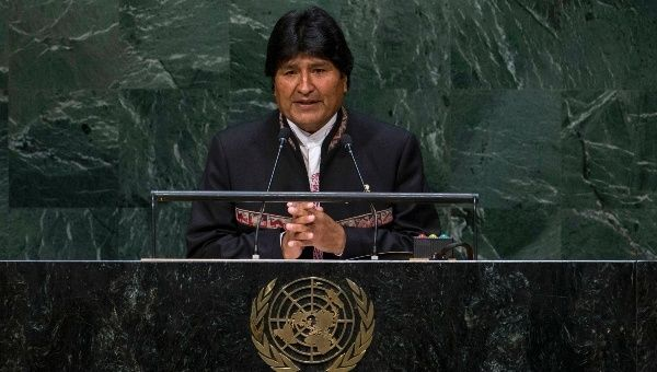 Bolivian President delivers remarks at the United Nations