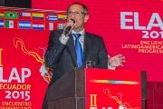 Vice President Jorge Glas speaks at the 2015 ELAP conference, Quito, Ecuador, Sept. 28, 2015.