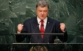 President Petro Poroshenko of Ukraine during the 70th session of the General Assembly at the U.N. Headquarters in New York, Sept. 29, 2015.