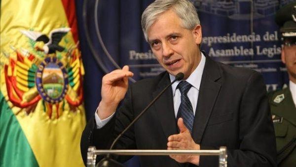 Asegura García Linera que oposición boliviana es financiada desde EE.UU.