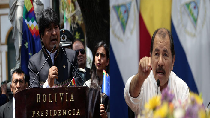 En The WikiLeaks Files: The World According to US Empire, se revelan acciones de la Casa Blanca contra los presidentes de Bolivia y Nicaragua, Evo Morales y Daniel Ortega, respectivamente.