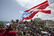 Puerto Ricans protest banks on the island.