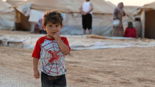A Syrian child is pictured at the al-Zaatri refugee camp in the Jordanian city of Mafraq, near the border with Syria, July 31, 2012.