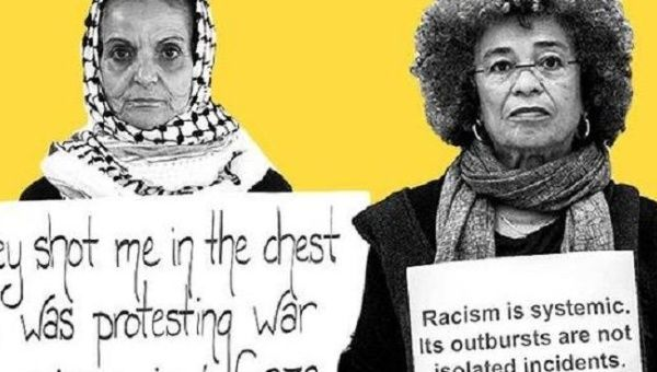 Palestinian advocate Rasmeah Odeh and Black activist Angela Davis appear in new Black-Palestine solidarity video.
