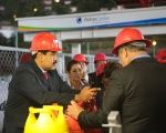 Nicolas Maduro inaugurates the Hugo Chavez Gas Plant.