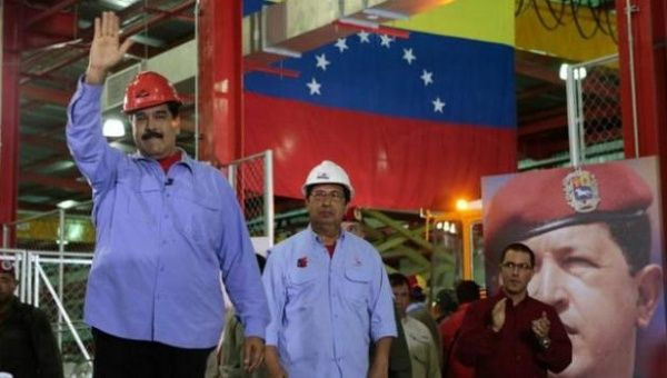 President Nicolas Maduro made a series of economic announcements while visiting an industrial site in the Venezuelan state of Barinas.
