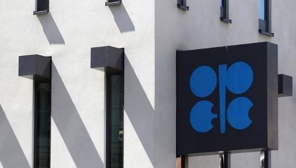 The Organization of the Petroleum Exporting Countries (OPEC) logo is pictured at its headquarters in Vienna June 10, 2014.