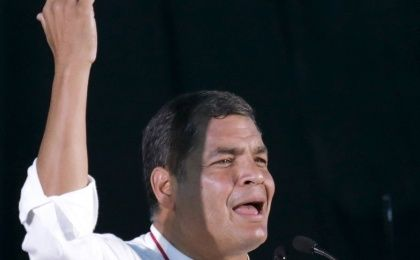 Rafael Correa will confront his opponents in a televised debate on Wednesday.