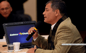 President Rafael Correa wants to speak directly with his opponents