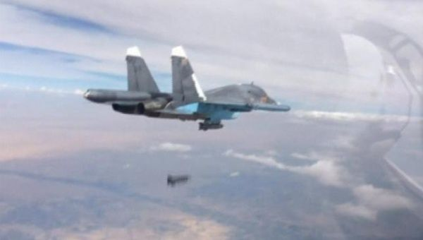 Una imagen tomada de material de archivo publicado por el Ministerio de Defensa de Rusia el 9 de octubre de 2015.