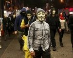 The Anonymous data leak coincided with worldwide protests mobilized by the online 'hacktivist' group on Guy Fawkes day on Nov. 5.