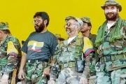 FARC leader Timochenko (R) with other FARC rebels in 2011.