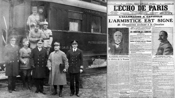 El imperio alemán y los aliados firmaron el acuerdo en el interior de un tren en 1918.