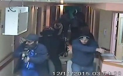 CCTV footage from Hebron's al-Ahli hospital showing Israeli undercover forces during their raid to detain Abdullah al-Shalaldeh.