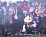 Indigenous women inaugurate their meeting with a spiritual Mayan ceremony.
