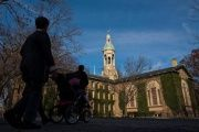 People walk around  Princeton University campus in New Jersey, Nov. 16, 2013.