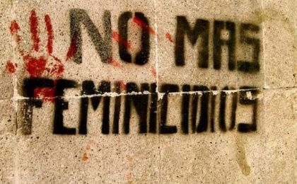 "Graffitti reads ""No more femicides."""