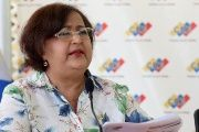 Tibisay Lucena, president of Venezuela's National Electoral Council, addresses the press before inspecting a polling station in Miranda, Nov. 29, 2015.