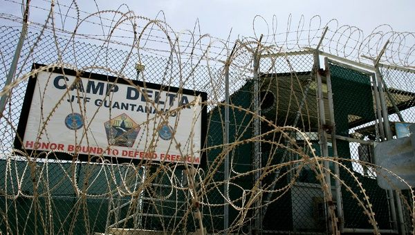 An outside view of Guantanamo Bay prison