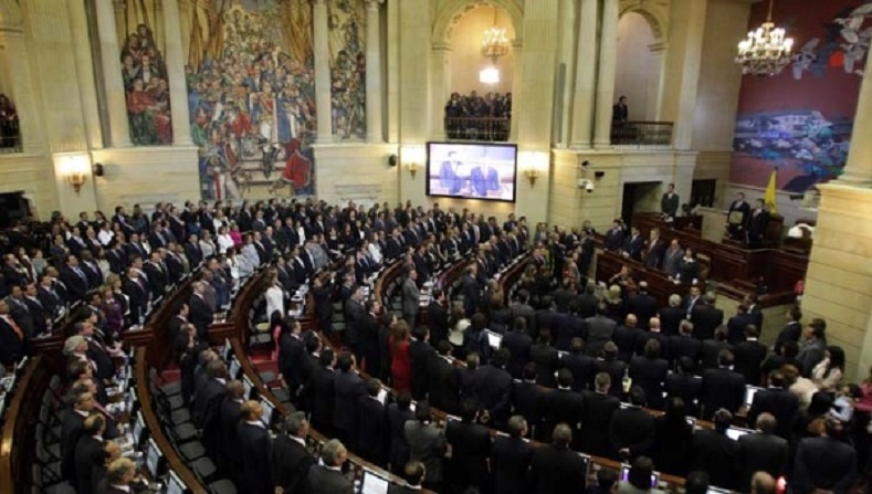Colombia's Congress approved the plebiscite for peace.