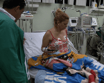 A patient is treated at the Salvador Allende Healthcare Center in Caracas.