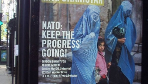 Amnesty International campaign poster issued during the U.S. invasion of Afghanistan.