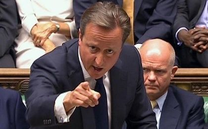 David Cameron speaks during a debate on military action against the Assad regime in 2013.
