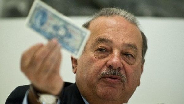 Mexican billionaire Carlos Slim dropped to fifth place on the Forbes list.