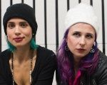 Nadezhda Tolokonnikova (L) and Maria Alekhina, members of the Russian punk rock band Pussy Riot, served jail time for a stunt slamming President Vladimir Putin.