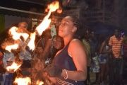 Fire-eaters at Saint Lucia's Annual Festival of Lights