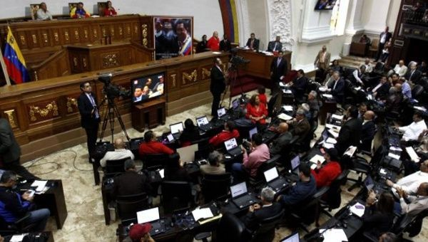 The Venezuelan National Assembly approves the new bill on seed legislation, Dec. 23, 2015.