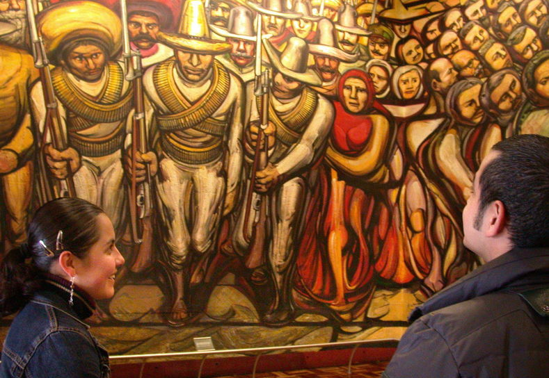 Happy birthday to great mexican muralist david alfaro for Mural siqueiros