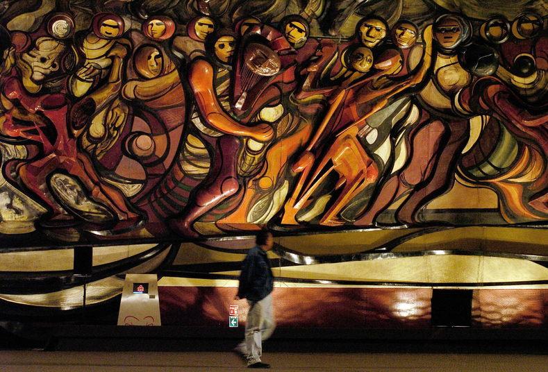 Happy birthday to great mexican muralist david alfaro for El mural de siqueiros