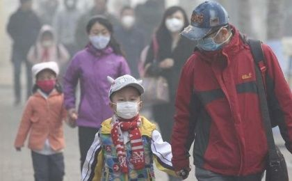 Severe air pollution has reportedly forced some schools to close in the Chinese city of Harbin.