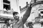 Former Cuban President Fidel Castro parades through the streets of Havana 57 years ago celebrating the triumph of the Cuban Revolution.