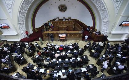 The new Venezuelan National Assembly sat for the second time on Wednesday, Jan. 6, 2016.