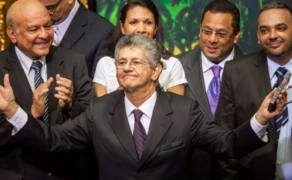 New President of the Venezuelan National Assembly, Henry Ramos Allup.