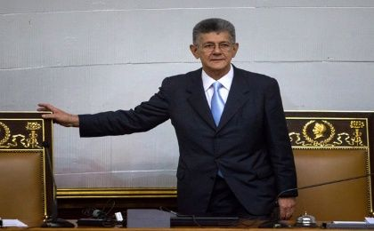 Henry Ramos Allup was nearly alone in the National Assembly Tuesday.