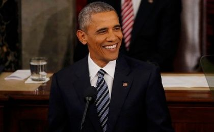 U.S. President Barack Obama delivers his final State of the Union Address Jan. 12, 2016.